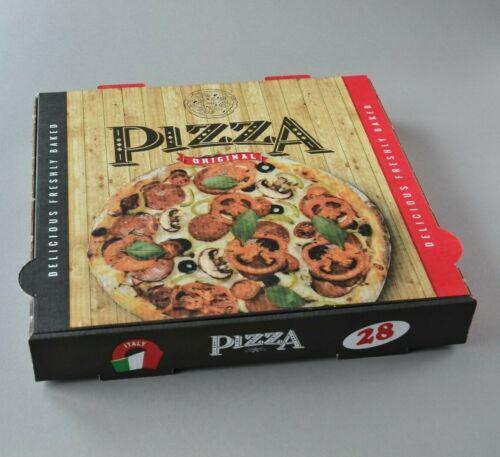 mit Pizzamotiv Pizzaboxen Pizzaschachtel 30×30×4cm 100 Stück Pizzakartons
