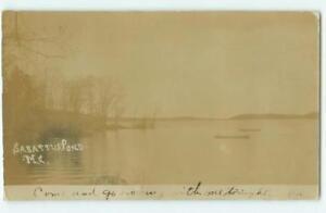 Sabattus-Pond-Maine-ME-Pre-1908-RPPC-Real-Photo-UDB-Antique-Postcard-25018