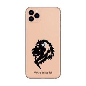 Coque Iphone 12 PRO MAX lion noir personnalisee