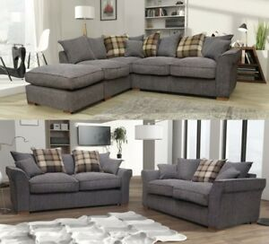 Image Is Loading Fable Large Corner Sofa Amp 3 2 Seater