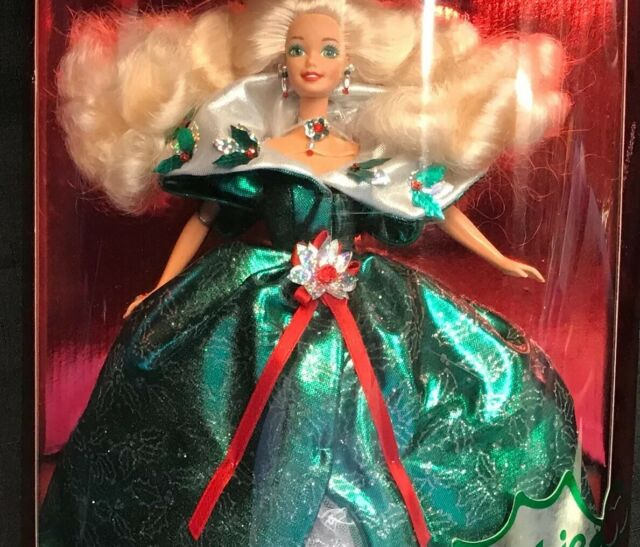 Mattel Happy Holidays Green Gown Barbie Doll Special Edition Christmas 1995 New