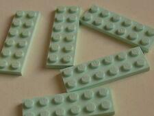 Lego 5 plates vert d eau set 8487 30106 3933  / 5 light aqua plates