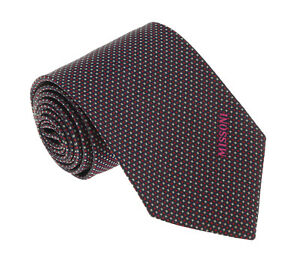 Missoni-U5032-Red-Black-Shepherd-039-s-Check-100-Silk-Tie