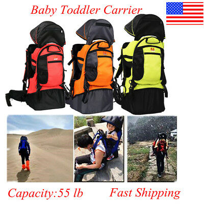 Baby Toddler Hiking Carrier Backpack w// Raincover Child Kid Sun//canopy Shield US