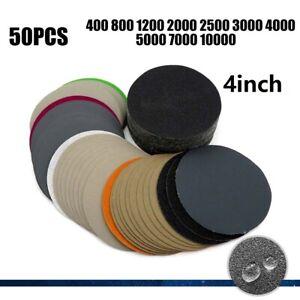 50pcs-10-2cm-Papier-Disque-Hook-amp-Loop-Sablage-Ponceuse-Polissage-Grincement