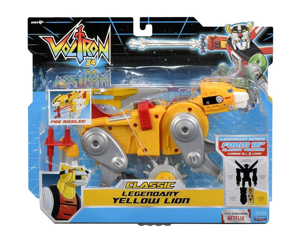 RARE Voltron 84 Classic Legendary Series Gelb Lion Action Figure 1984 MINT