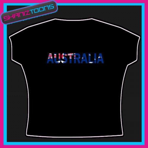 AUSTRALIA AUSTRALIAN FLAG EMBLEM TSHIRT CHILDS LADIES ADULTS SIZES