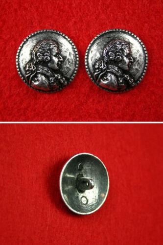 Pair of Pewter MARQUIS DE SADE Buttons Gothic,Fetish,Sadist,Sadism