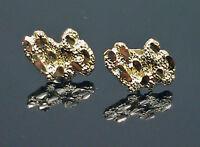 10k Yellow Gold Nugget Earrings