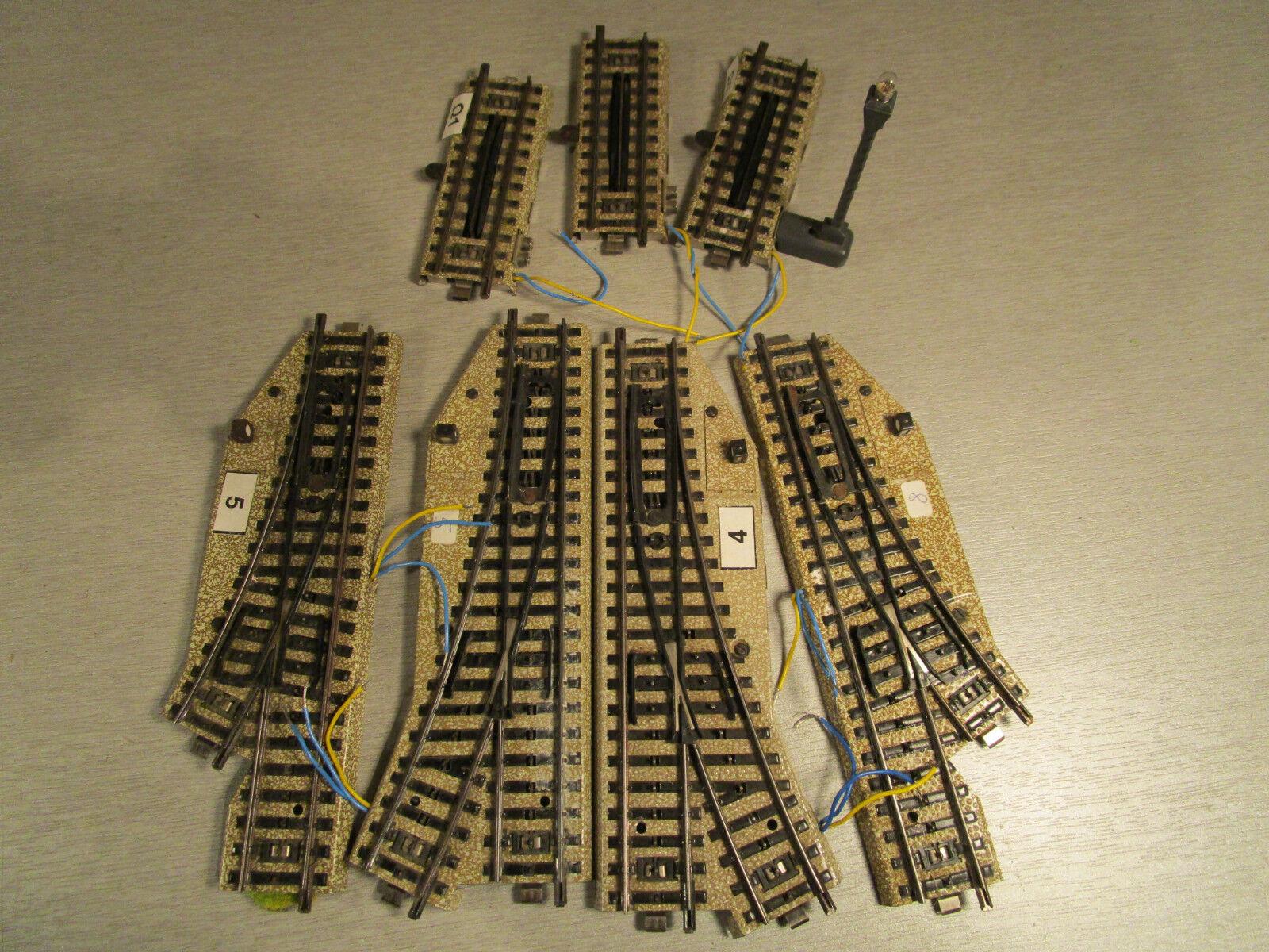 7x Märklin 5112 5202 5221 5138 5139 elektroweiche entkupplungsgleis M-vía h0