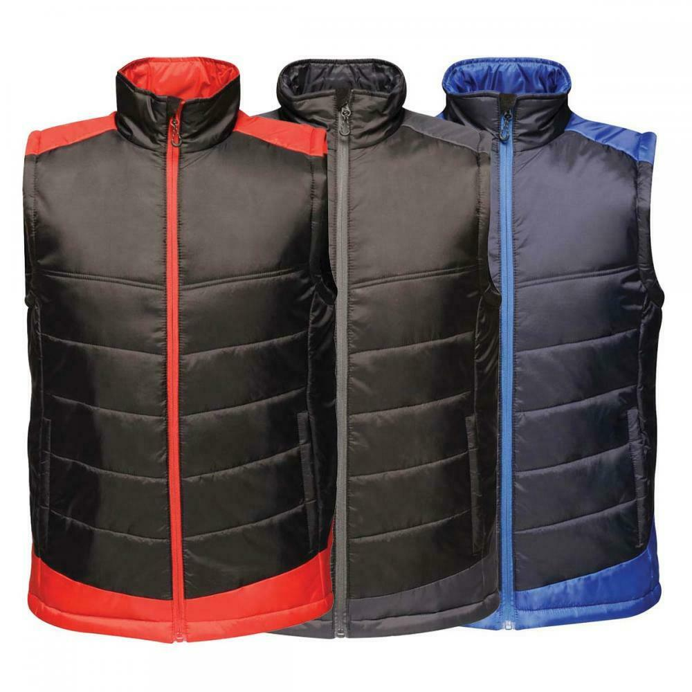 Regatta Contrast Collection Two Tone Colour Insulated Work Wear Bodywarmer Gilet