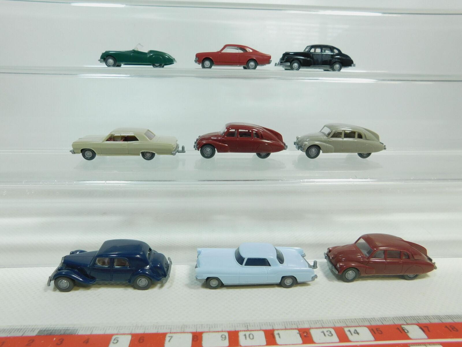 BK72-0,5x Wiking H0 1 87 PKW  Opel Kapitän 51+Jaguar+Citroen+Tatra etc, s.g.