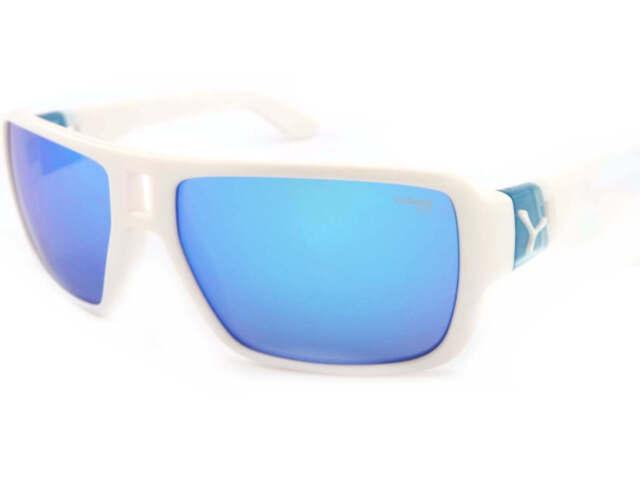 CEBE Unisexe L. A.M Lunettes de soleil matte blanc bleu / 1500 miroir cat.3