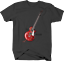 Electric Guitar on Neck Strap Fill in the Head the Musician Tshirt