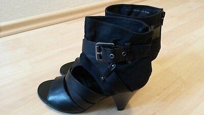 Schuh Sandale schwarz, Größe 40 Leder und Syntetik