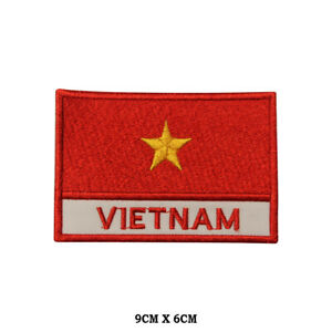 Vietnam-National-Flag-Embroidered-Patch-Iron-on-Sew-On-Badge-For-Clothe-etc