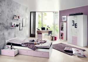 Details Zu Jugendzimmer Komplett Schreibtisch Bett Kinderzimmer Jugendbett Steffi