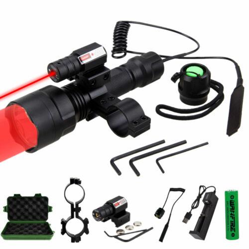 Hunting Hog light Green//Red LED Predator Varmint Flashlight Rail Mount 20mm