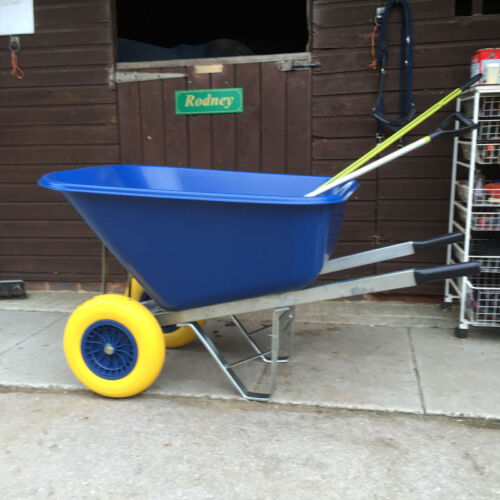 Equestrian Wheelbarrow puncture proof twin tyres. High quality, UV protected