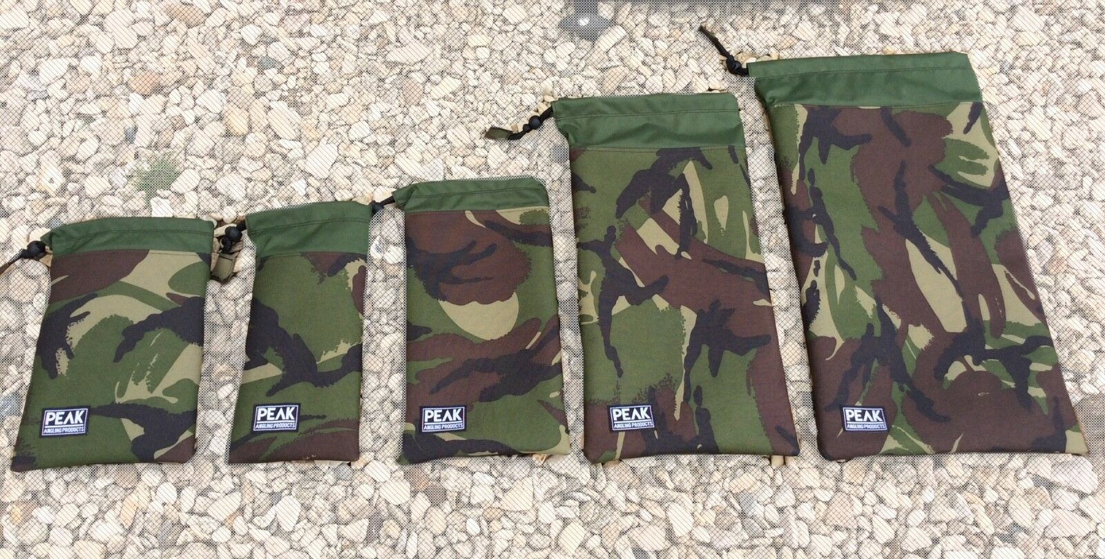 Bits bag set made from Cordura camo pattern fabric