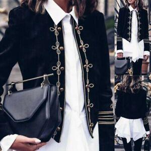 Women-Fashion-Retro-Steampunk-Gothic-Military-Coat-Jacket-Top-Cardigan