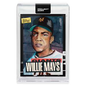 Topps PROJECT 2020 Card 101 ~ 1952 Willie Mays by Jacob Rochester ~ PR: 10568