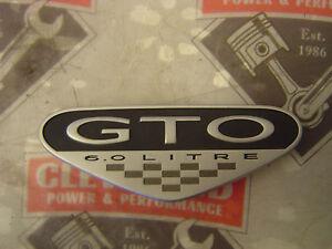 2004 2005 2006 Pontiac GTO 6.0L Fender Badge Emblem LS2 04-06 CHROME New!!