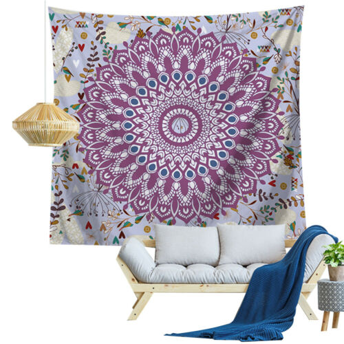 Bohemian Mandala Tapestry Wall Hanging Hippie Room Bed Throw Cover Beach Towel