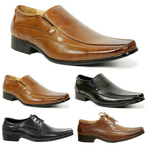 NEW-MENS-LEATHER-SMART-WEDDING-ITALIAN-FORMAL-OFFICE-SLIP-ON-LACE-BOYS-SHOE-SIZE