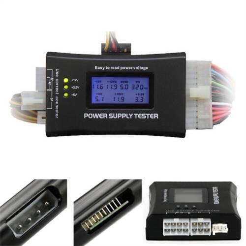 Digital LCD PC Computer 20//24 Pin Power Supply Tester Checker Diagnostic HOT