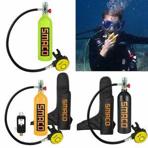 1L-Diving-Mini-Scuba-Cylinder-Sauerstoffflasche-Unterwasseratemgeraet-kit-DEU-DHL