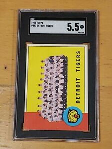 1963-Topps-552-Detroit-Tigers-SGC-5-5-Newly-Graded-PSA