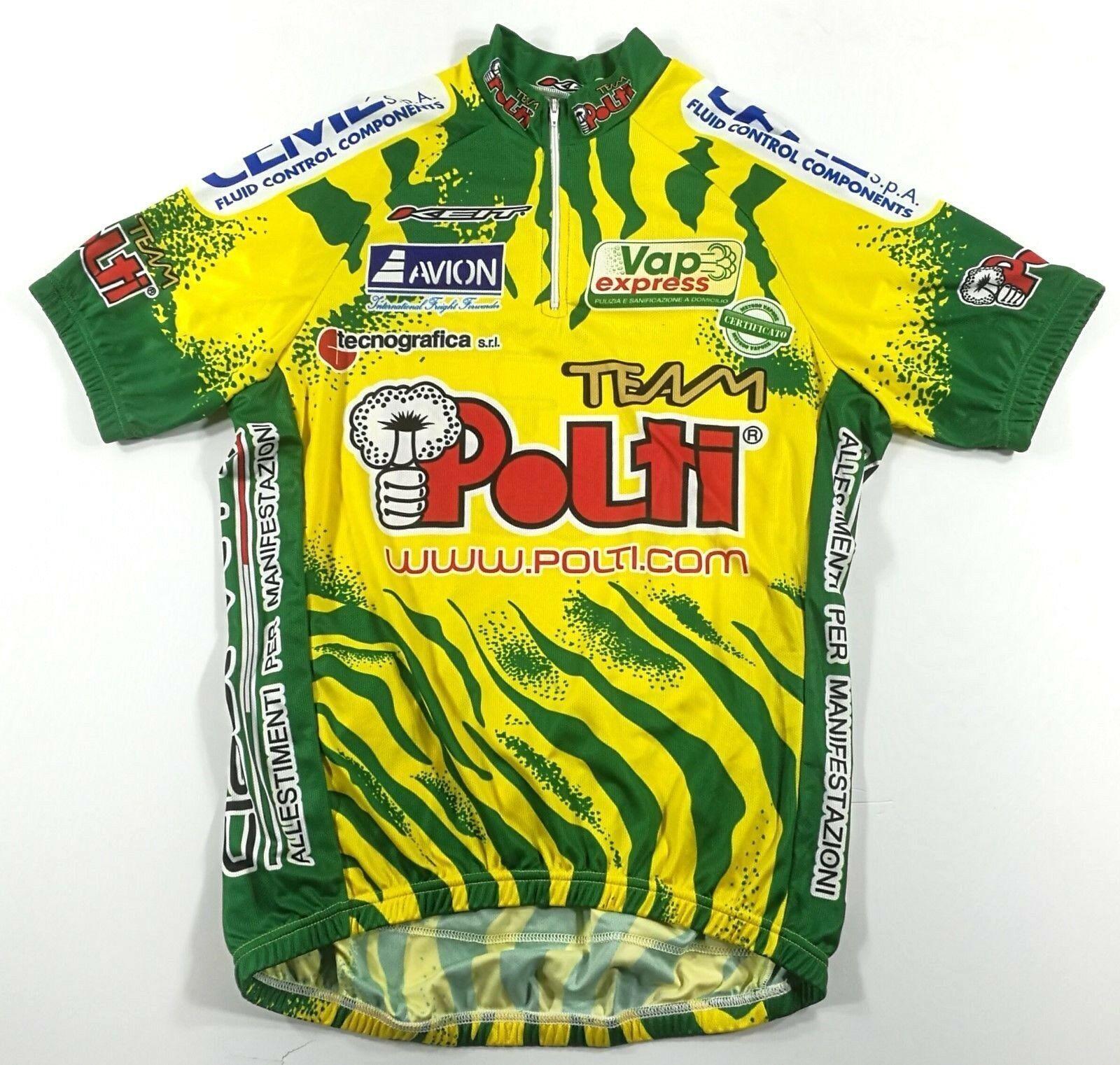 Vintage ciclismo Cycling maglia jersey maillot Polti KEIT taglia tg size xl