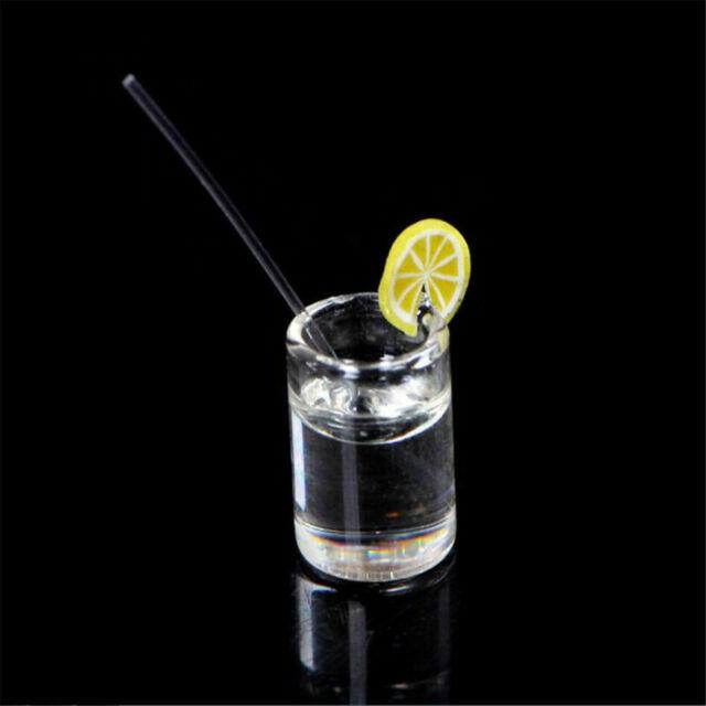 2Pcs 1:12 Lemon water cup miniature dollhouse accessories cups toy decoratio SJ