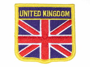 United Kingdom Union Jack Embroidered Patch Red White And