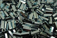 250 Hex Coupling Nuts 14 20 X 38 X 78 Threaded Rod Connector Zinc