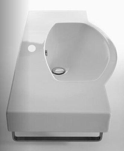 SANITARI LAVABO SOSPESO portasciugamani Easy bath cm 98