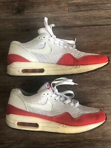 nike air max 1 em white red