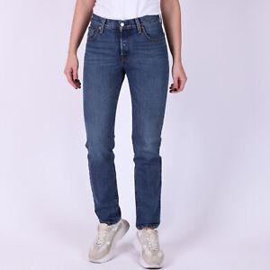 Levi-039-s-501-Original-Fit-Blau-Damen-Jeans-25-32