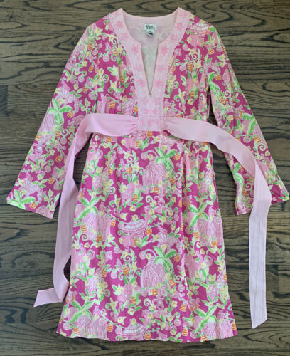 Lilly Pulitzer Masey Tunic Dress Caftan Pink Umbre