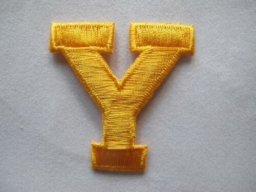 "1 3//4/"" Yellow Letter Embroidery Iron On Applique Patch //1pc"