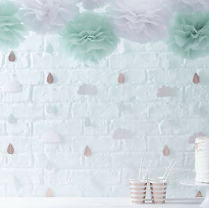 Hello World Baby Shower Backdrops Rose Gold Clouds Decorations Ebay