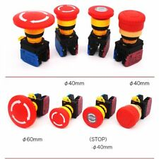 22mm E Stop Push Button Switch Emergency Stop Switch Mushroom Push Button Switch