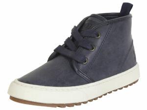 Polo-Ralph-Lauren-Little-Boy-039-s-Chett-Navy-Burnished-Boots-Shoes