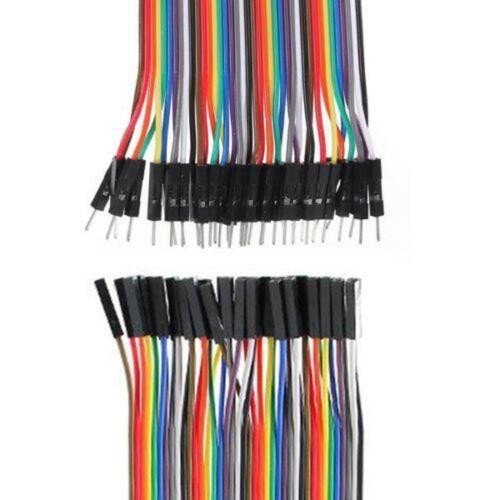 F-F Jumper Wire GPIO Pi  Breadboard WT 120 pcs Dupont Cables M-F M-M