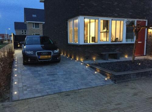 10er Set 30mm LED Bodeneinbauleuchte Terrasse Außen Dachüberstand Einbaustrahler