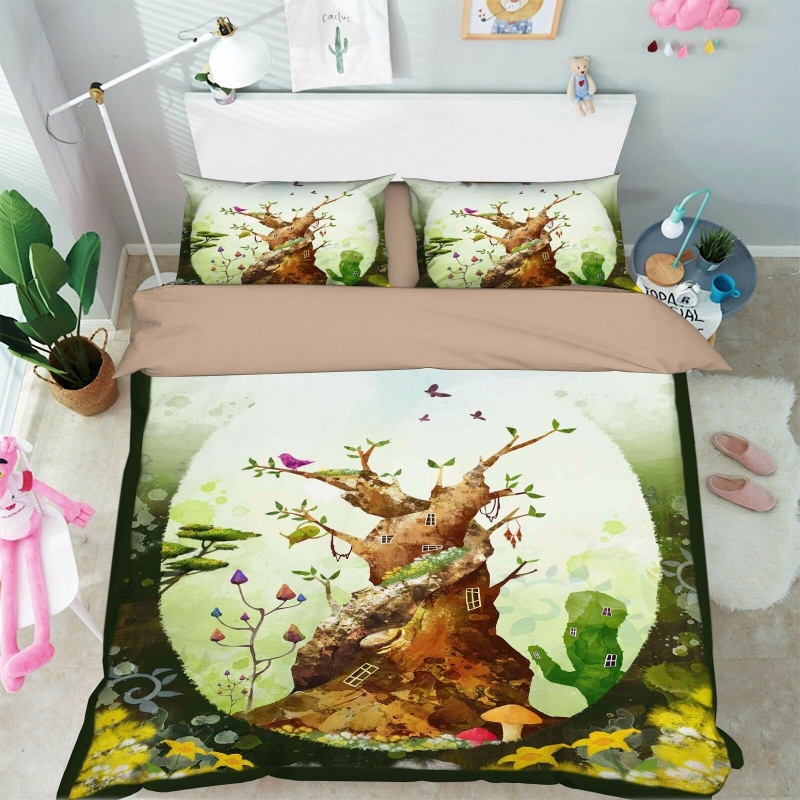 3D Trunk Painted 906 Bed Pillowcases Quilt Duvet Cover Set Single Queen UK Kyra