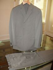 used ARMANI COLLEZIONI grey suit US 38R flat front 31 x 30 Italy $1,595 Neiman