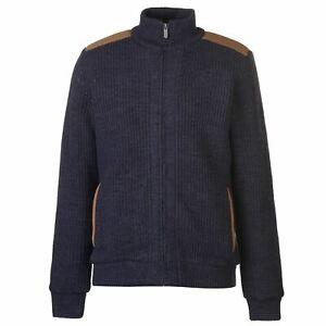 Kangol-Mens-Funnel-Z-Line-Knit-Lined-Knitwear-Long-Sleeve-Neck-Zip-Full-Block