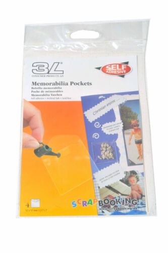 3L  Small Memorabillia pockets  for scrapbooking Display packets